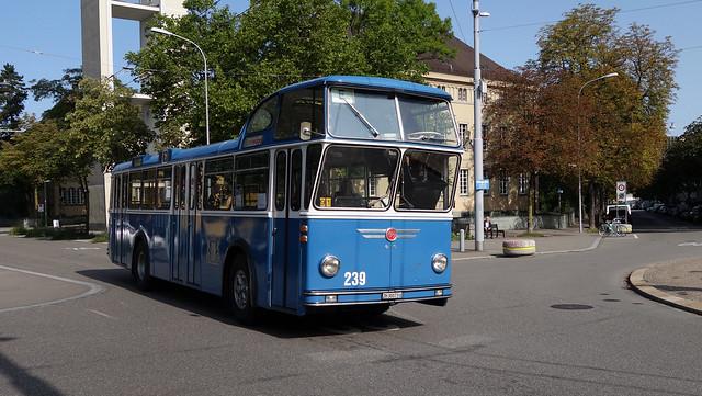 Tram Museum Zürich - Tag der historischen Busse - FBW Hochlenker  (20. August 2017)