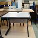 Grey laminate study desk E45