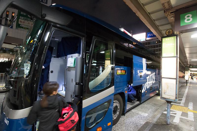 東京富山夜行バス