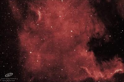 NGC 7000 nebulosa Norteamérica en h-alpha 7nm