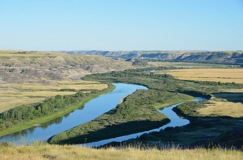 Drumheller view of the Red Dear River | by Pierre Yeremian