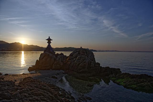 Sunrise with Kōbō-Daishi