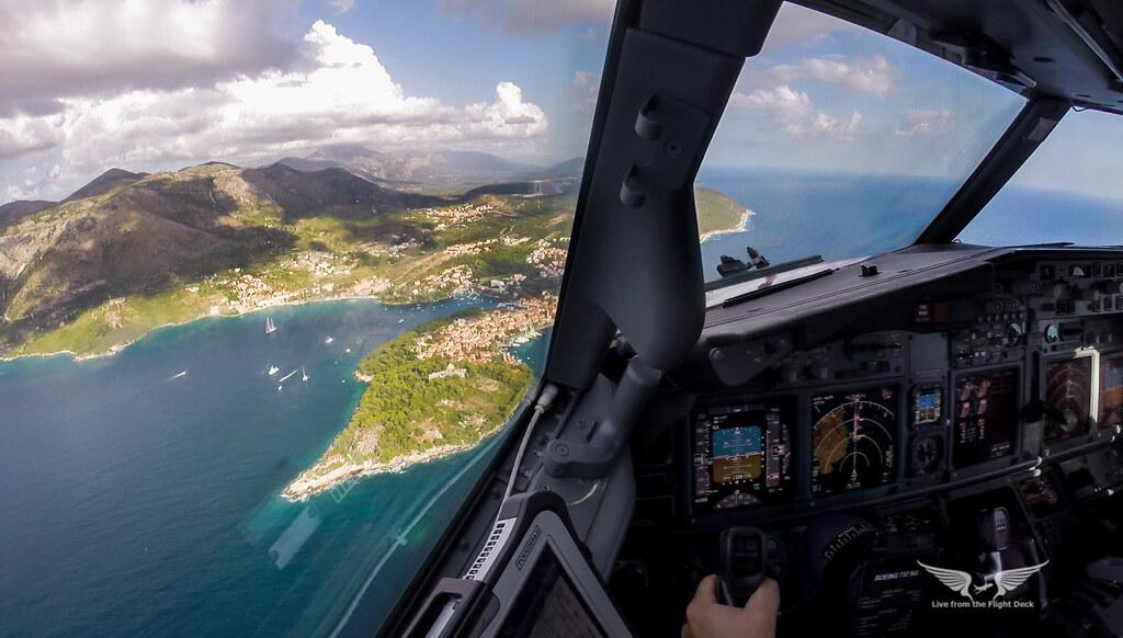Final Runway 12 into Dubrovnik, Croatia