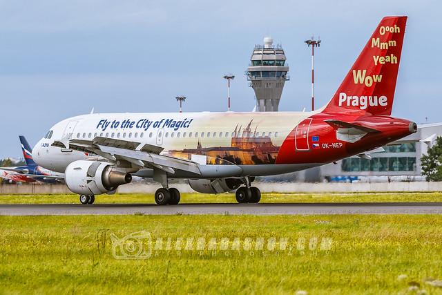 Airbus A319 Prague cityofmagic Сzech Airlines Planespotting at Pulkovo ( LED), Saint-Petersburg, Russia