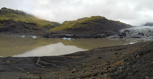 sólheimajökull mýrdalsjökull iceland nature landscape lagoon iceberg scenery view panorama global warming