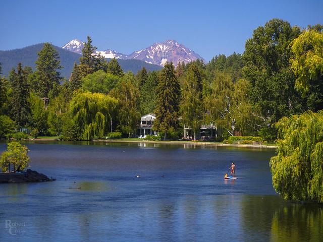 Mirror Pond in Midsummer