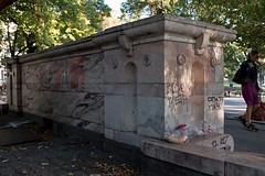 Swastika graffiti, Sofia, Bulgaria