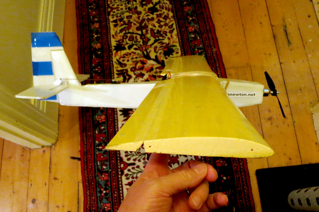 Hot wire cut wing | 190mm x 23mm Clark Y airfoil cut from 30