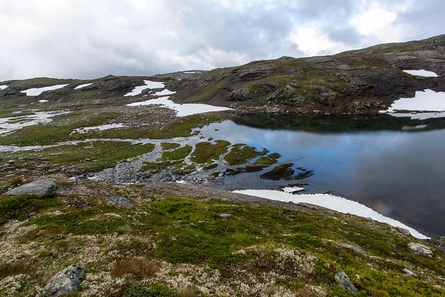 Lille delta i dalen kort efter søen 1349