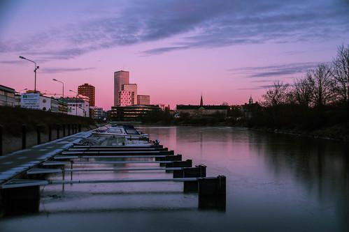 malmölive boats view fiskehoddorna winter nature himmel spegling sweden outdoor dusk malmö twilight reflection sky light city malmoe cityview ice skånelän sverige se siluett citynature silhouette