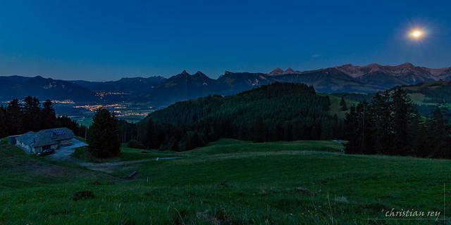 Clair de lune sur la Gruyère (Switzerland)