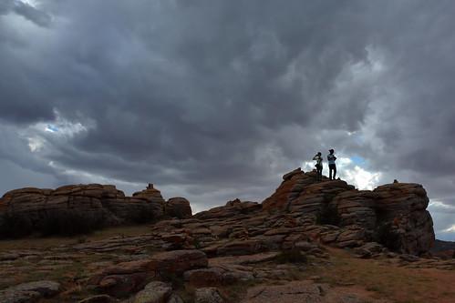mongolia gobi desierto desert tormenta storm