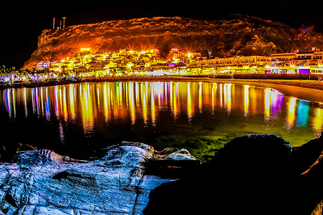 night lights at the cove