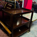 Mahogany tiered tea trolley on casters  E45