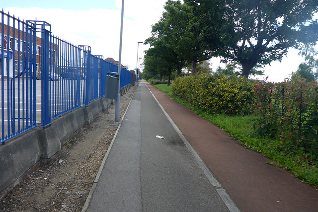 Cycle path beside the A1033
