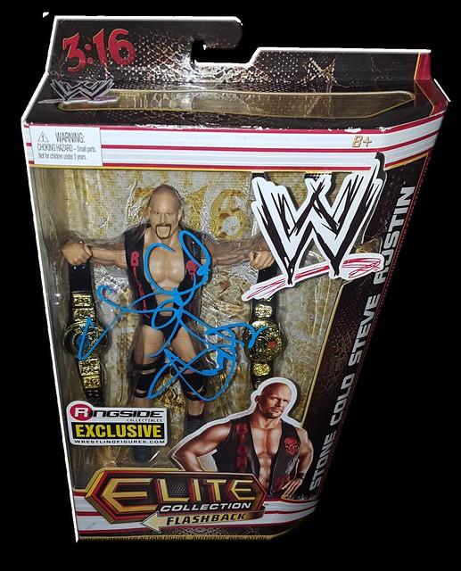 Stone Cold Steve Austin Autographed Mattel WWE