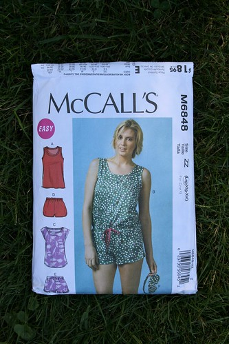 "Silk ""Secret Pajamas"":  McCall's 6848 