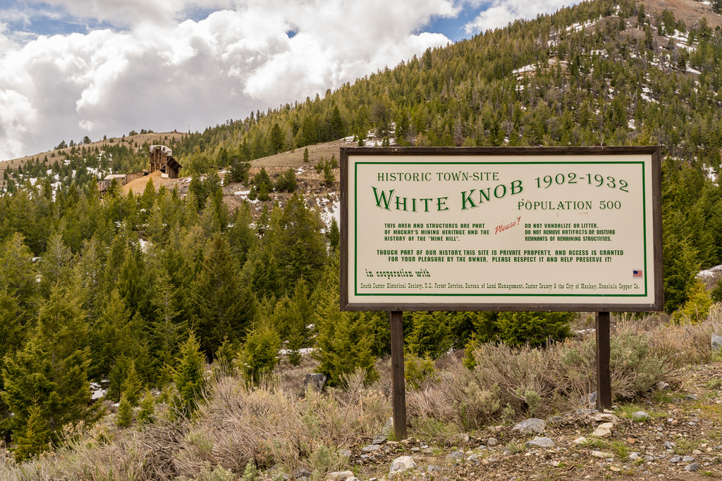 White Knob Idaho - Ghost Town Near Mackay Idaho | White Knob