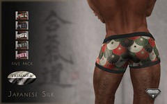 Trimmer Bay Japanese Print Silk Boxers 01