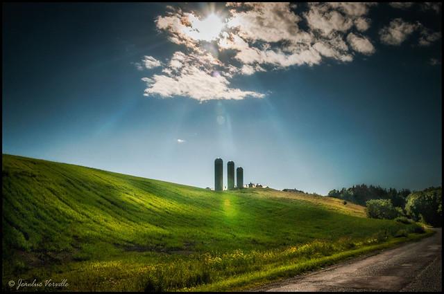 Les trois silos / The three silos