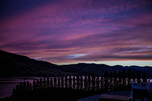 chelan lakechelan washington drone dusk hills lake sky skyline sunset unitedstates