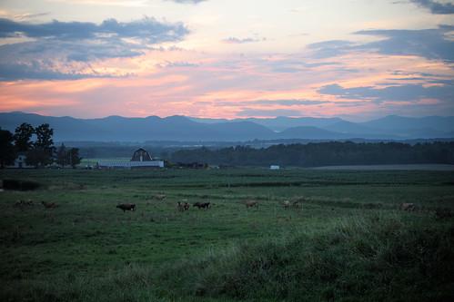 adirondacks mountain sunset