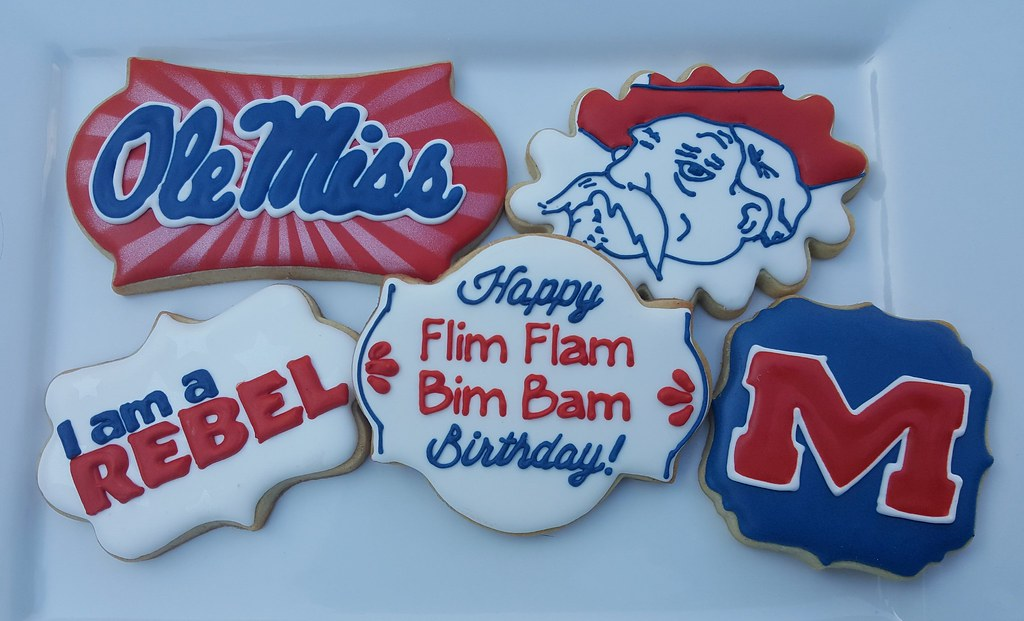 Surprising Ole Miss Birthday Cookies Karla Flickr Funny Birthday Cards Online Fluifree Goldxyz
