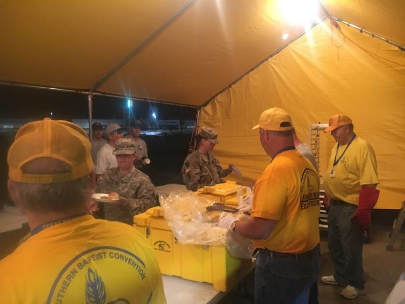 Texas Baptist Men Serving First Responders before moving