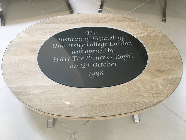 Coffee Table with embedded Foundation Stone Plaque