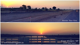 Sunrise and Sunset on the highway | by wanderingjatin