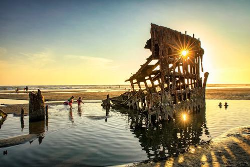 hss sunstar children people ocean reflections wreckofthepeteriredale rusty