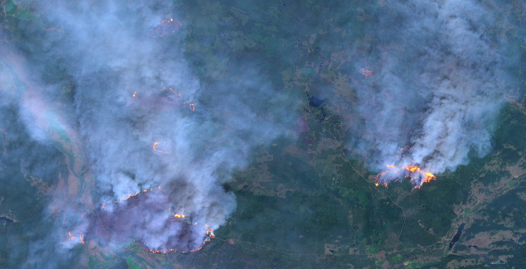 Wildfires near Hanceville, British Columbia, Canada