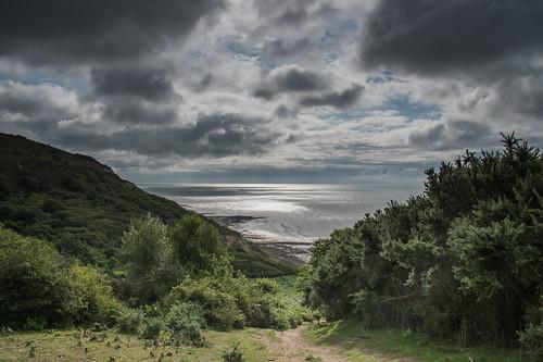 seascape warrenglen hastingscountrypark clouds sunshine gorse englishchannel beach sea