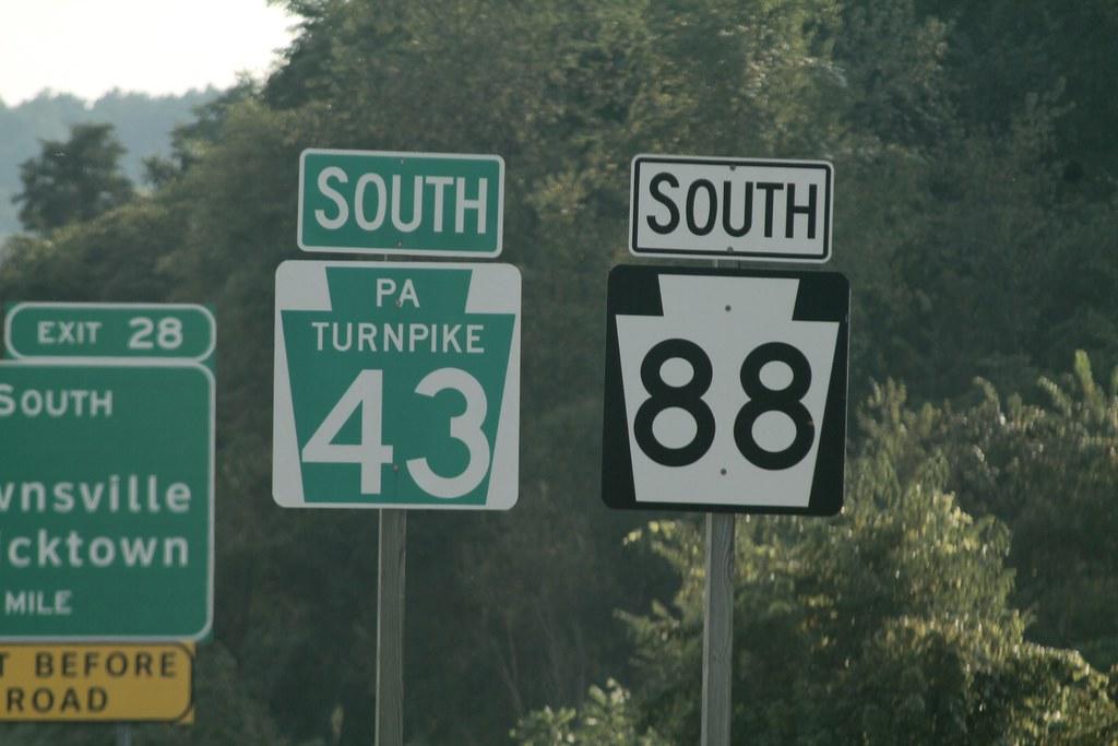 Multiplex of PA Turnpike 43 and PA 88 | Jon Dawson | Flickr