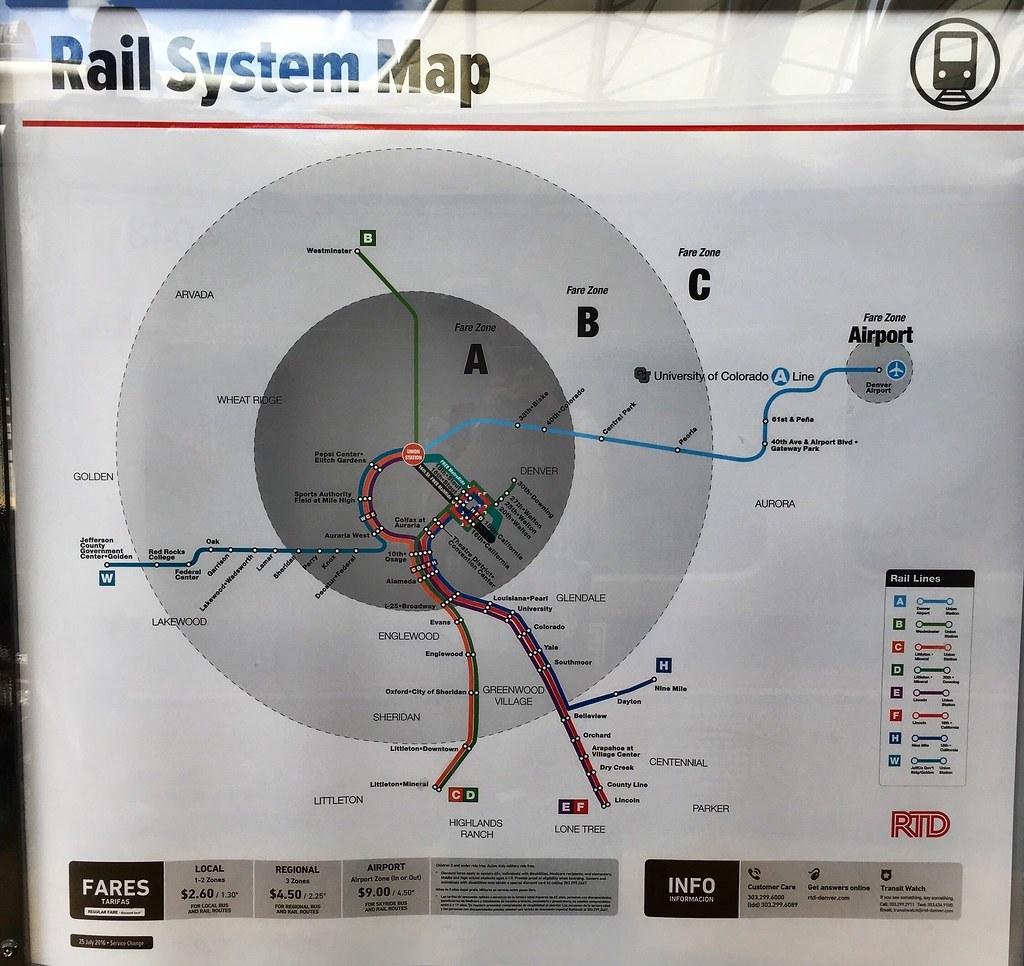 Denver Rail Map on