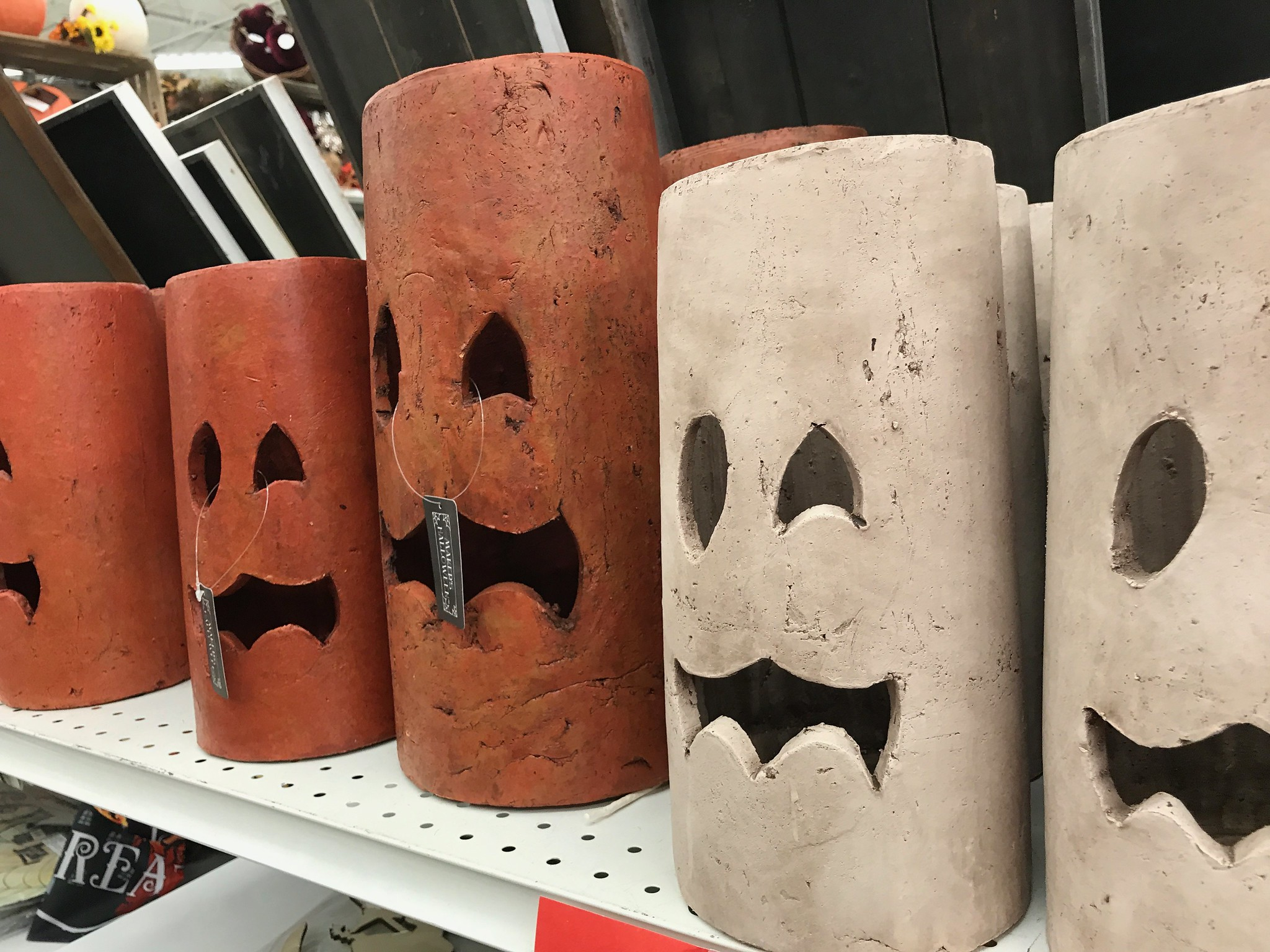 Large Halloween Faux Candles