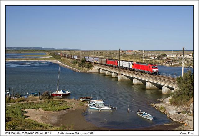 ECR 186 331+186 303+186 339 - Port la Nouvelle - 49214  (20-08-2017)