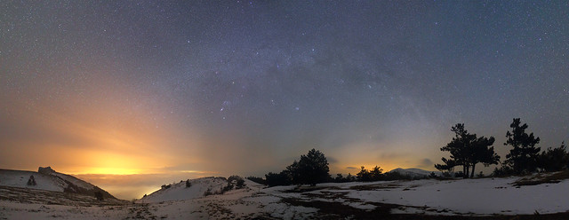 Winter Milky Way over Demerdzhi