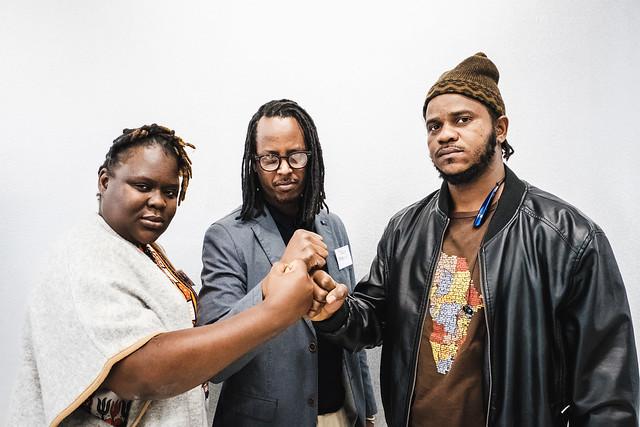 AfriqUPrising! Linda Masarira, Teddy Mazina, Thiat (von links)  (c) Andi Weiland | Heinrich-Böll-Stiftung (CC by)
