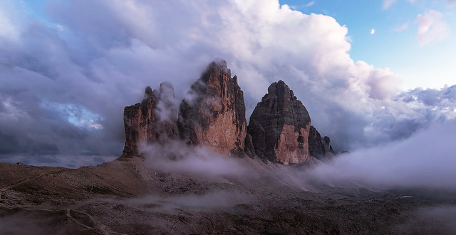 Lavaredo after sunset