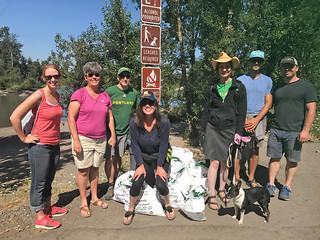 Beach Cleanup Teamwork   by ClimateTrust