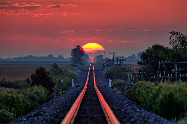 Sunrise on the Rails
