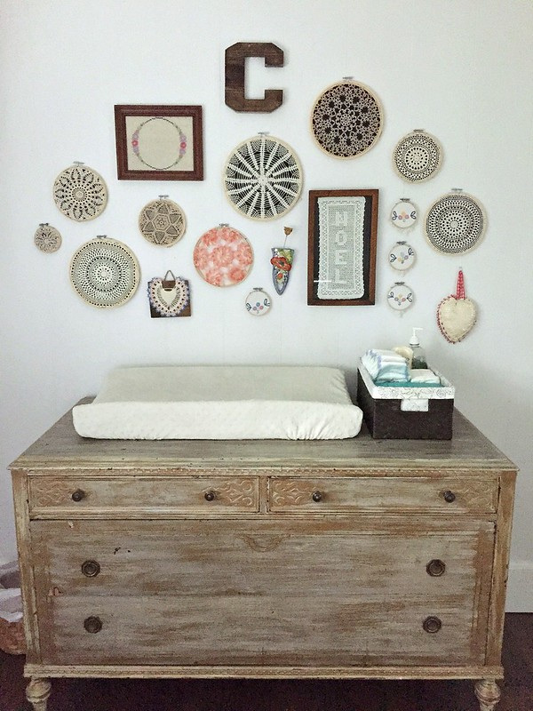 distressed dresser and changing table
