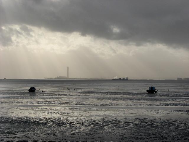 The Thames estuary at Thorpe Bay