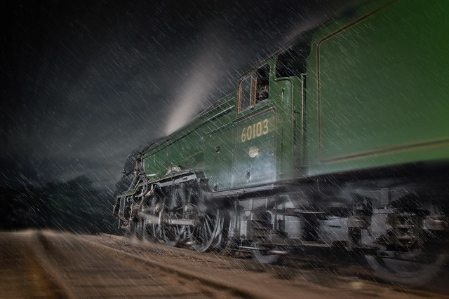 Steaming through the storm