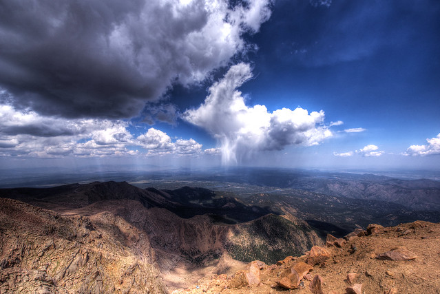 View from Pikes Peak (4.301 m or 14.110 feet) - Colorado - USA