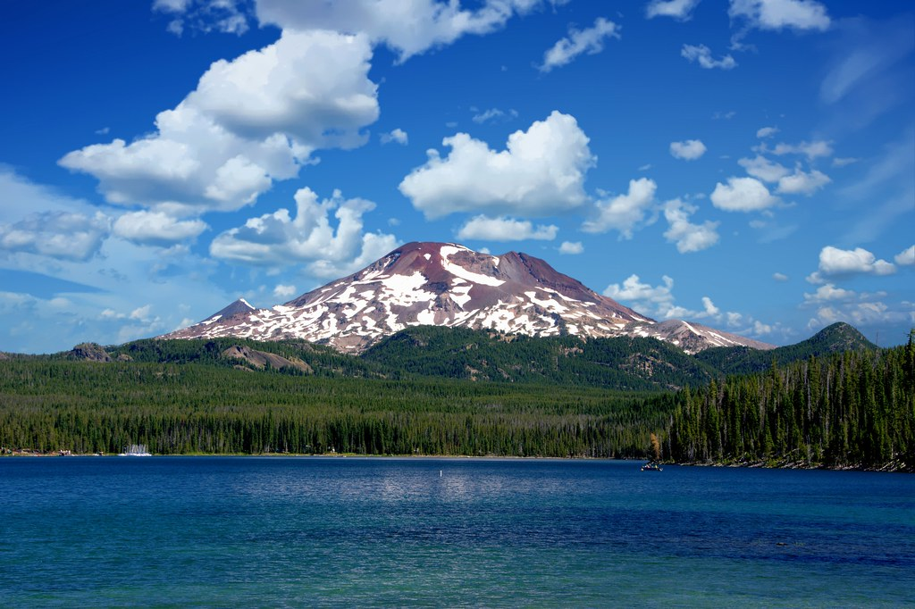 Mt Batchelor Across Elk Lake, Oregon