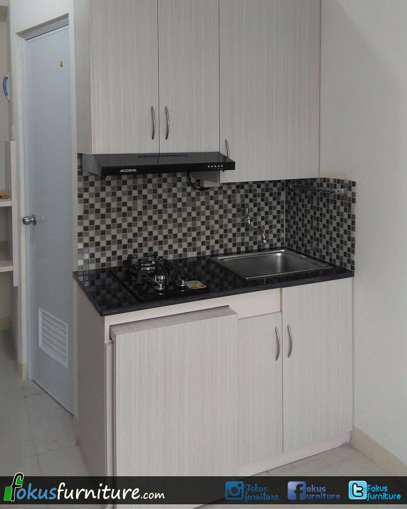 Kitchen Set Apartemen Green Pramuka Fokusfurniture Furni