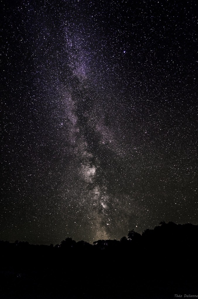 Milky Way from last night    3 pictures with canon 10-18mm