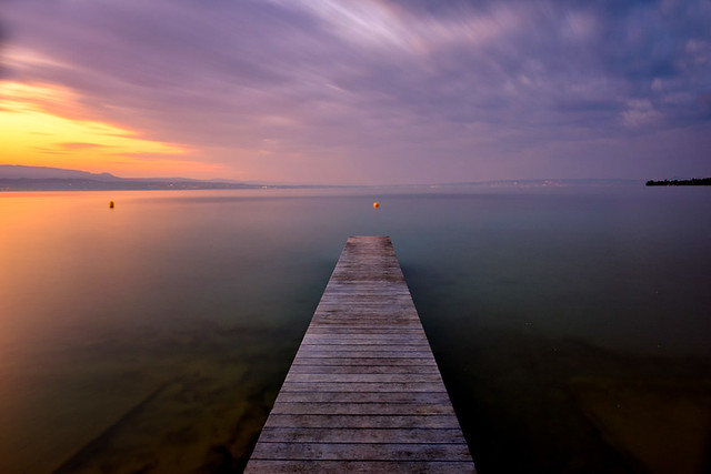 Sunset over lake Geneva II
